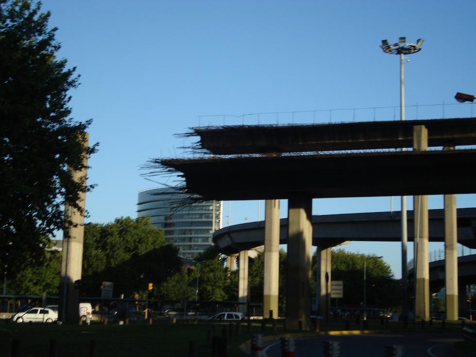 Broken overpass