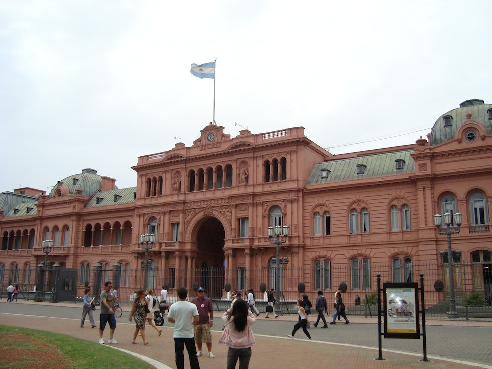 Casa Rosada - houses the offices of the President