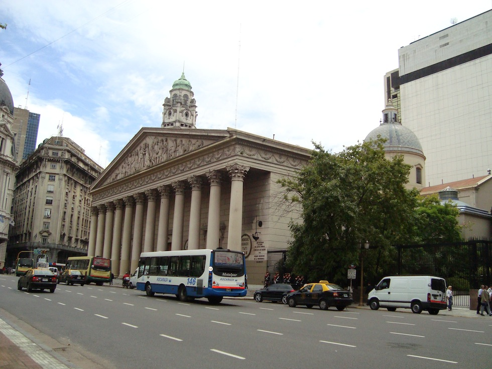 Catedral Metropolitana, seat of the Catholic church in Argentina. Not a bank