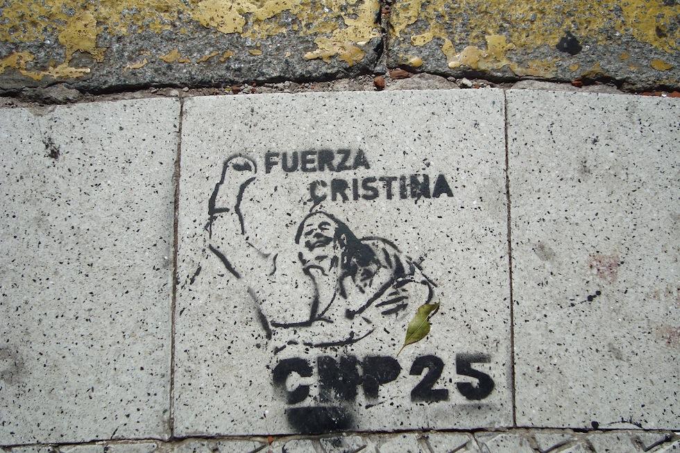 Ubiquitous political graffiti